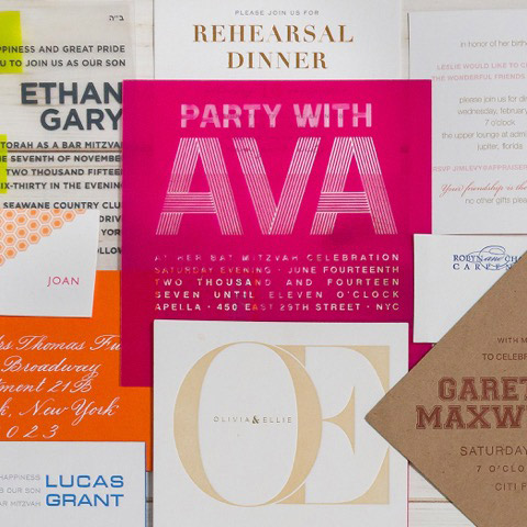 Personalized Elegant, Fun invitations and party favors