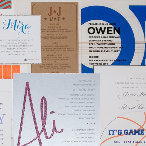 Party Invites customized for you- Birthday, Wedding, Bat Mitzvah,Bar Mitzvah, Anniversary