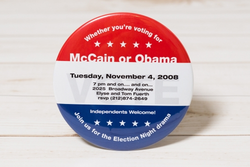 Election party buttons!