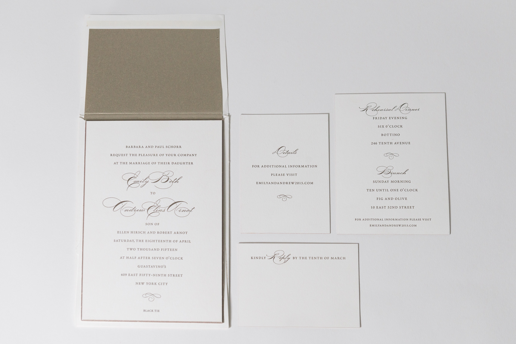 personal wedding party invites