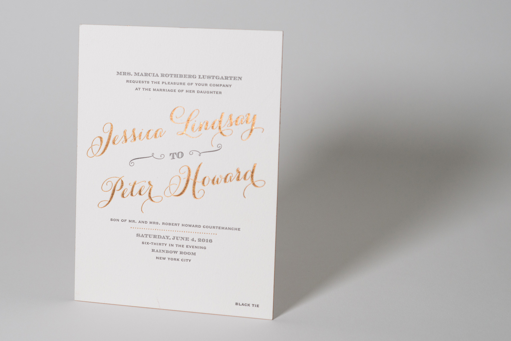 custom metallic ink invitations