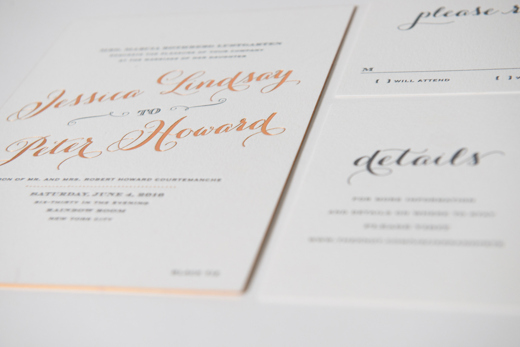 Fancy wedding invitations custom designed