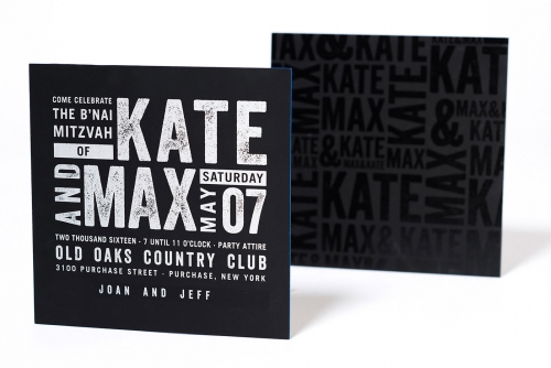 exciting b'nai mitzvah invites