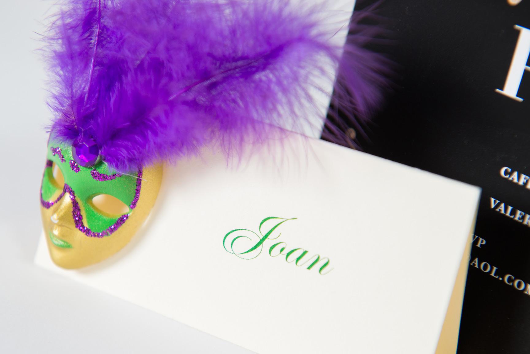 die-cut invitations