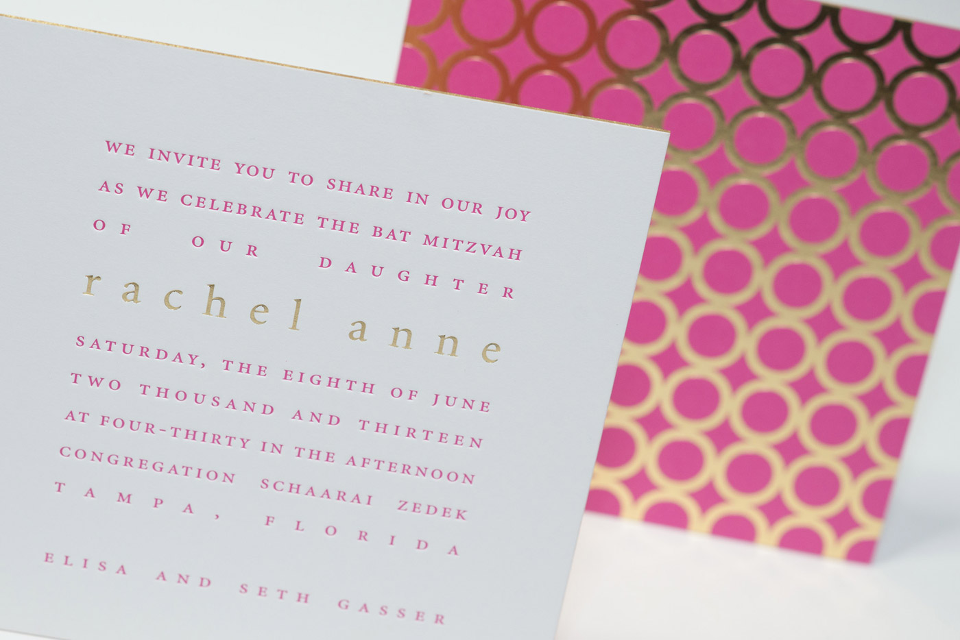 cool, unique  bat mitzvah invites for you