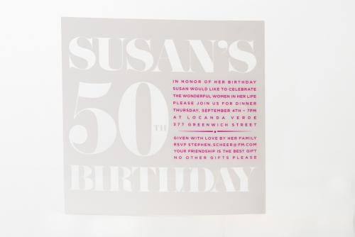 milestone party invite design