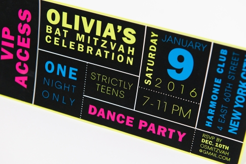 Cool ticket style invite