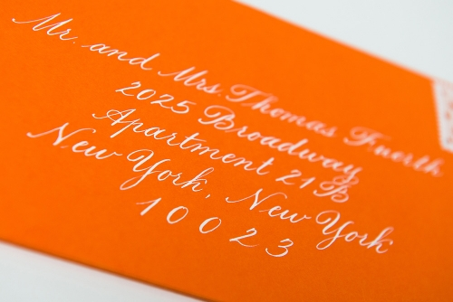 calligraphy on an envelope