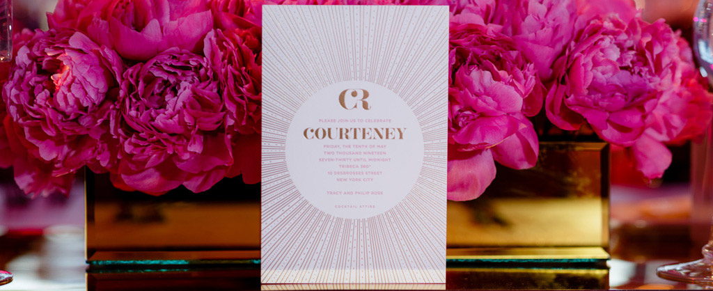 courteney' personalized celebration by EAF fine papers
