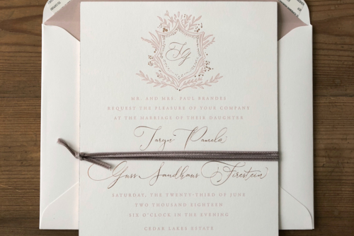 custom classic wedding invitations