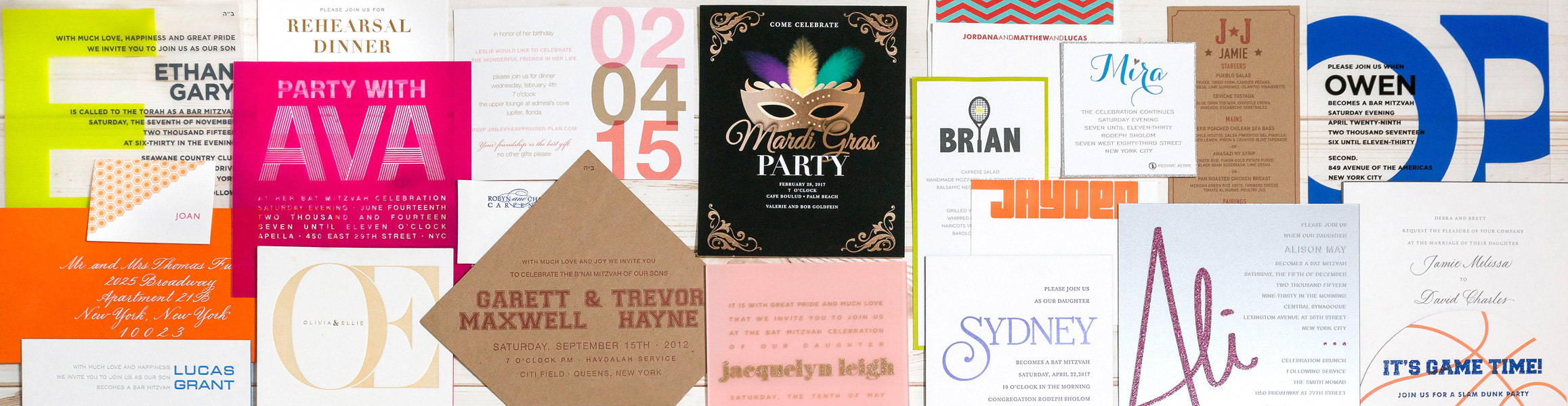 Custom personal elegant invitaions and branded events in NYC and the tri-state area